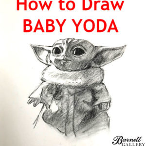 how to draw baby yoda step by step for drawing/painting